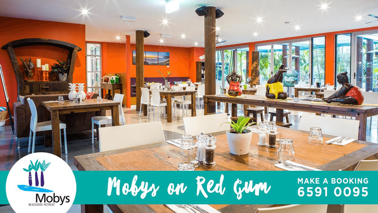 Eat with us this week at Mobys on Red Gum